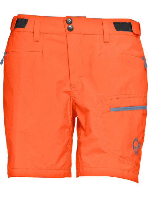 Norrøna W's Bitihorn Lightweight Shorts Orange Alert